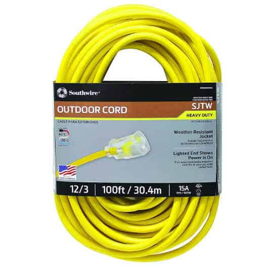 Outdoor-rated Extension Cord