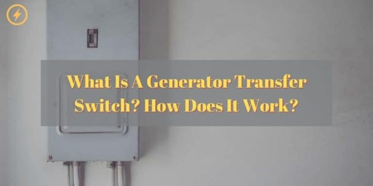 What is a generator transfer switch
