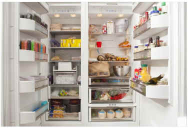 foods inside fridge