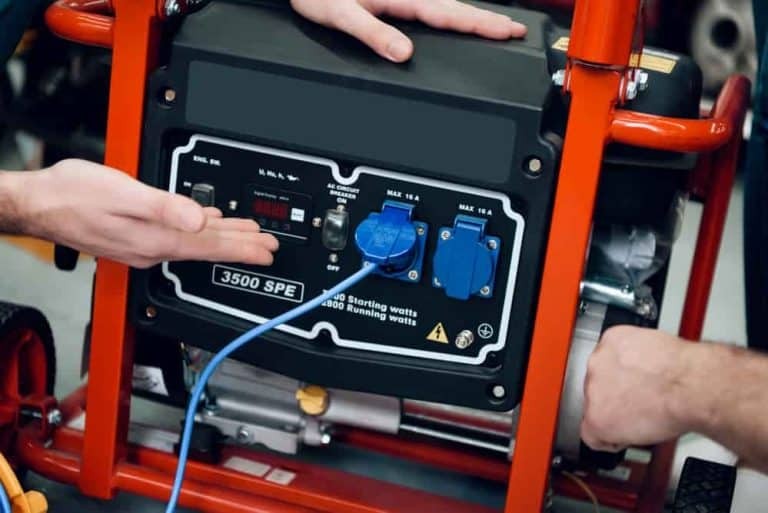 using a portable generator with extension cords