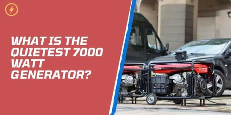 what is the quietest 7000 watt generator