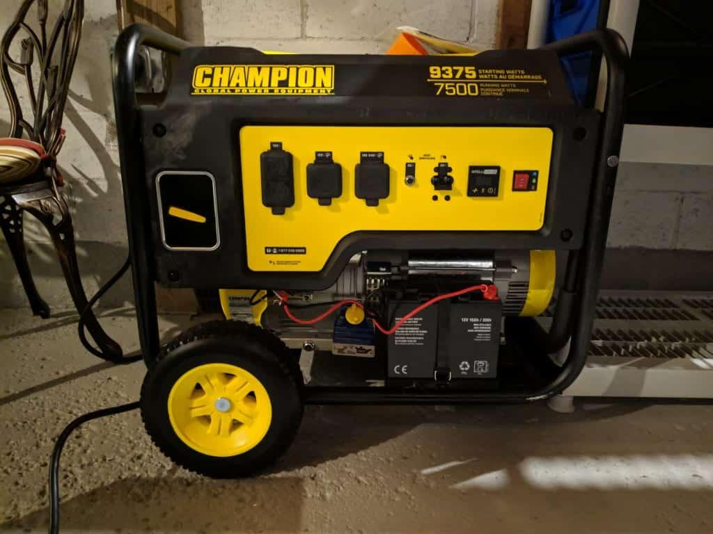 Champion 9375 generator